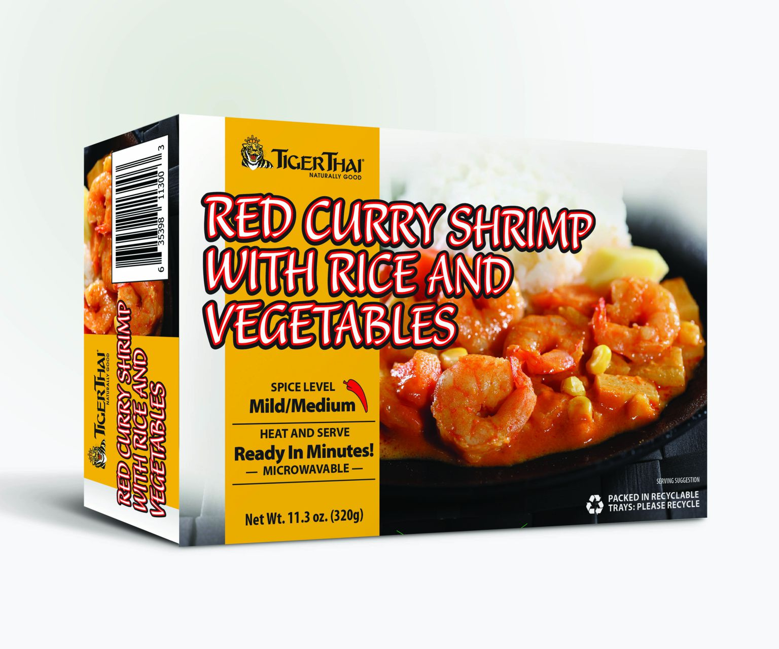 Red Curry Shrimp with Rice and Vegetables image